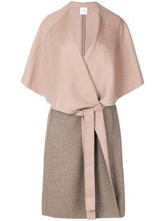 пальто-накидка с поясом Agnona