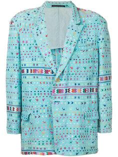 пиджак с этническим узором Yohji Yamamoto Vintage