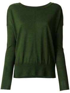 свитер с V-образным вырезом сзади  Forte Forte