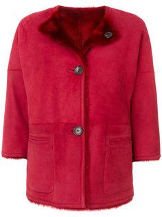 пальто на пуговицах с пушистой подкладкой  Desa 1972