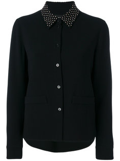 пиджак-рубашка с заклепками на воротнике  Boutique Moschino