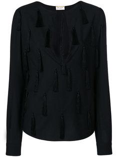 блузка с кисточками Saint Laurent