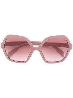 крупные солнцезащитные очки Prada Eyewear