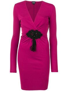 присборенное платье с V-образным вырезом  Just Cavalli