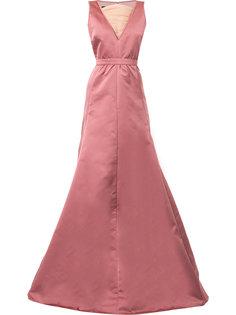 платье с вставкой из тюля Rochas