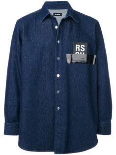 рубашка с аппликацией-логотипом Raf Simons
