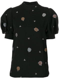 блузка с цветочным принтом и воротником-стойкой  Chloé