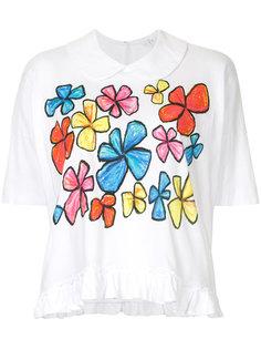 футболка с цветочным принтом Comme Des Garçons