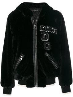 куртка-бомбер с заплаткой King Dolce & Gabbana