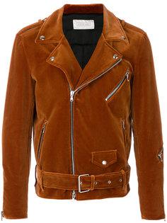 бархатная байкерская куртка Route Des Garden