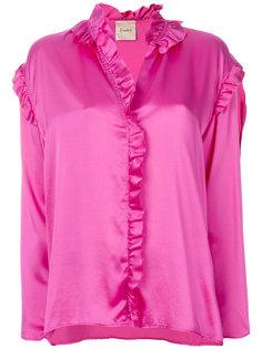 блузка с оборками Nude