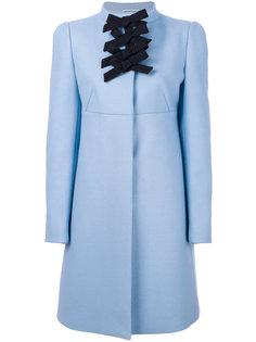 пальто с контрастными бантами на вороте Rochas