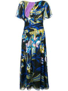 платье миди с цветочным принтом  Emilio Pucci