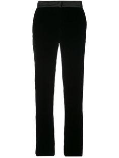 бархатные брюки скинни Oscar de la Renta