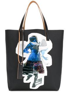 сумка-шоппер с принтом Marni
