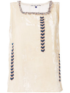 embroidered sleeveless top Jupe By Jackie