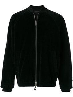 бархатная куртка бомбер Ann Demeulemeester Grise