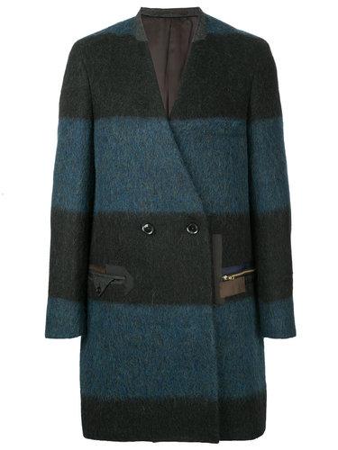 полосатое пальто Kolor