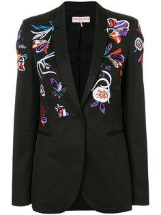блейзер с цветочной вышивкой  Emilio Pucci