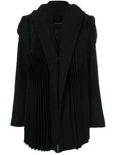 строгое плиссированное пальто  Yohji Yamamoto