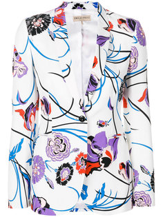 блейзер с цветочным принтом  Emilio Pucci