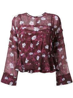 блузка с цветочным принтом Carven