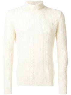 свитер вязки косичкой Nuur