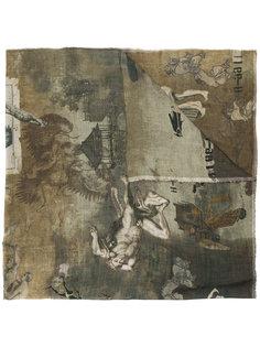 шарф с принтом статуй Ziggy Chen