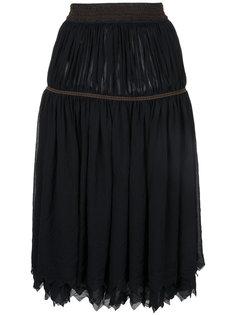 расклешенная юбка с оборками Comme Des Garçons