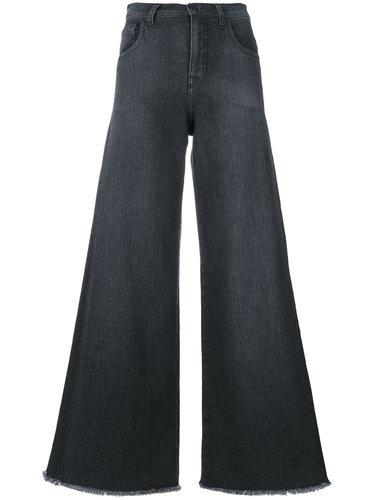 raw hem wide-leg jeans Andrea Ya'aqov