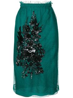 миди юбка с вышивкой из пайеток Nº21