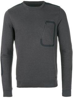 свитер с нагрудным карманом на молнии Woolrich