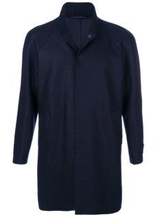 пальто с воротником-стойкой  Emporio Armani