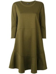 расклешенное платье с длинными рукавами Jil Sander Navy