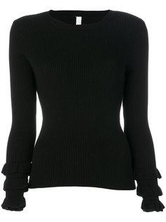 свитер с оборками на манжетах Philo-Sofie