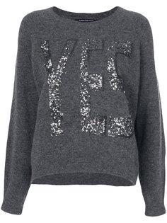 свитер с отделкой блестками  Luisa Cerano