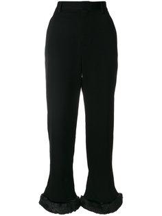 брюки с завышенной талией и меховой отделкой  Comme Des Garçons Noir Kei Ninomiya