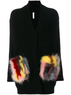 свитер с карманами из искусственного меха Philo-Sofie
