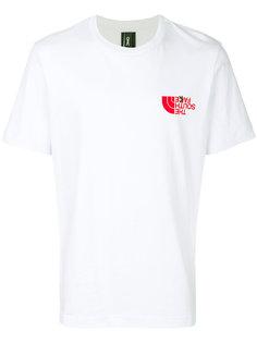 T-shirt with ironic logo Omc