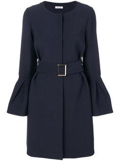 пальто с поясом и баской на рукавах  P.A.R.O.S.H.