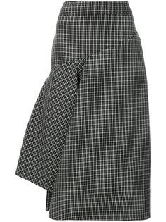 асимметричная юбка в клетку  Marni