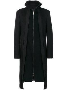 пальто с многослойным эффектом  D.Gnak
