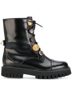 ботинки с декоративными пуговицами Dolce & Gabbana