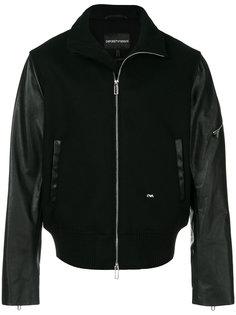 куртка-бомбер с панельным дизайном Emporio Armani