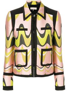 укороченный жаккардовый пиджак  Emilio Pucci