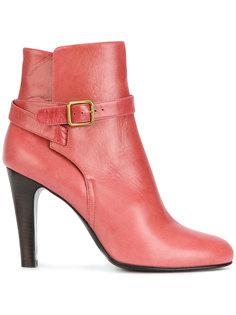 buckle strap detail ankle boots Michel Vivien