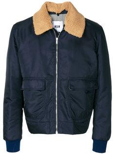 куртка на молнии с карманами MSGM
