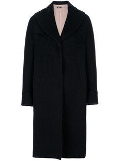 свободное однобортное пальто  Jil Sander Navy