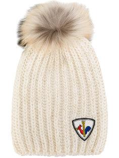 шапка с меховым помпоном Rossignol