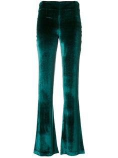 бархатные брюки клеш  Galvan